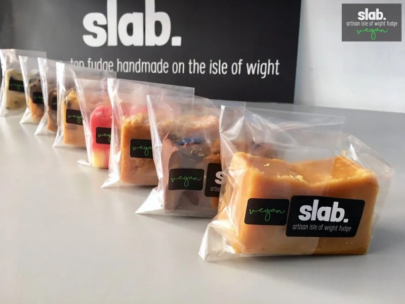 Slab Artisan Isle of Wight Fudge - Vegan Slabs Promo 2