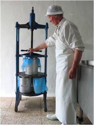 Eric with cheese press