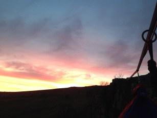 Hammock view of sunset