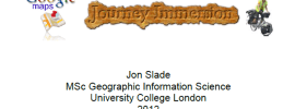 'Google Maps Journey Immersion' Dissertation