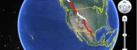 Google Earth API Simple KML Overlays Example