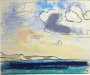 Weymouth Bay from Bowleaze Cove J Bailey pastel 13 x 15cm £550