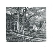 Chilcombe I Howard Phipps wood engraving 3.5 x.4 inches £215 framed