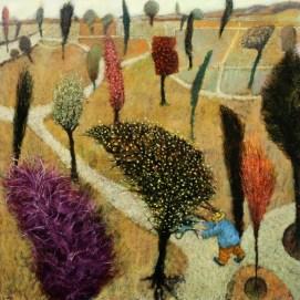 The Gardener by Simon Garden 61 x 61cm £4,800