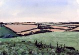 Charlton Down at Dusk II Tim Cumming 5 x 7 in gouache on paper £150