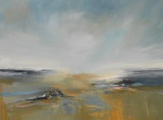 Dorset Beach, mixed media on canvas, 90cm x 122cm, £1,800