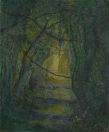 John Hubbard Sunken Lane 2 oil on paper 2011