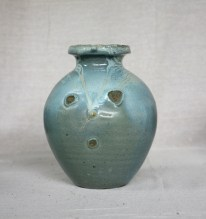 Svend Bayer 11. Jar, celadon glaze, 25 x 24 cm SOLD