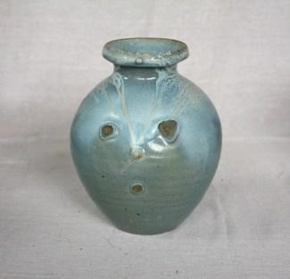 Svend Bayer 11. Jar, celadon glaze, 25 x 24 cm from above SOLD