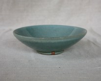 Svend Bayer 26. Bowl, celadon glaze, 8 x 25 cm SOLD