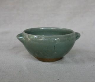 Svend Bayer 61. Bowl with handles, celadon glaze, 8 x 15cm £80
