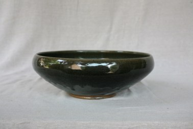 Svend Bayer 8. Bowl from side , new granite glaze, 15 x 43 cm £490