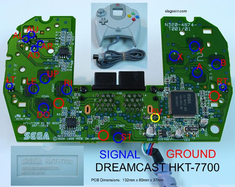 PCB de manette Dreamcast