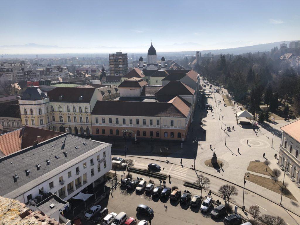 Sepsiszentgyörgyi városháza és főtér