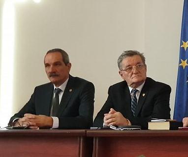 Alexandru Teacă és Gheorghe Baciu a PMP Kovászna megyei politikusai