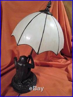 Monkey Slag Glass Lamp