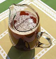 a pitcher of mauby