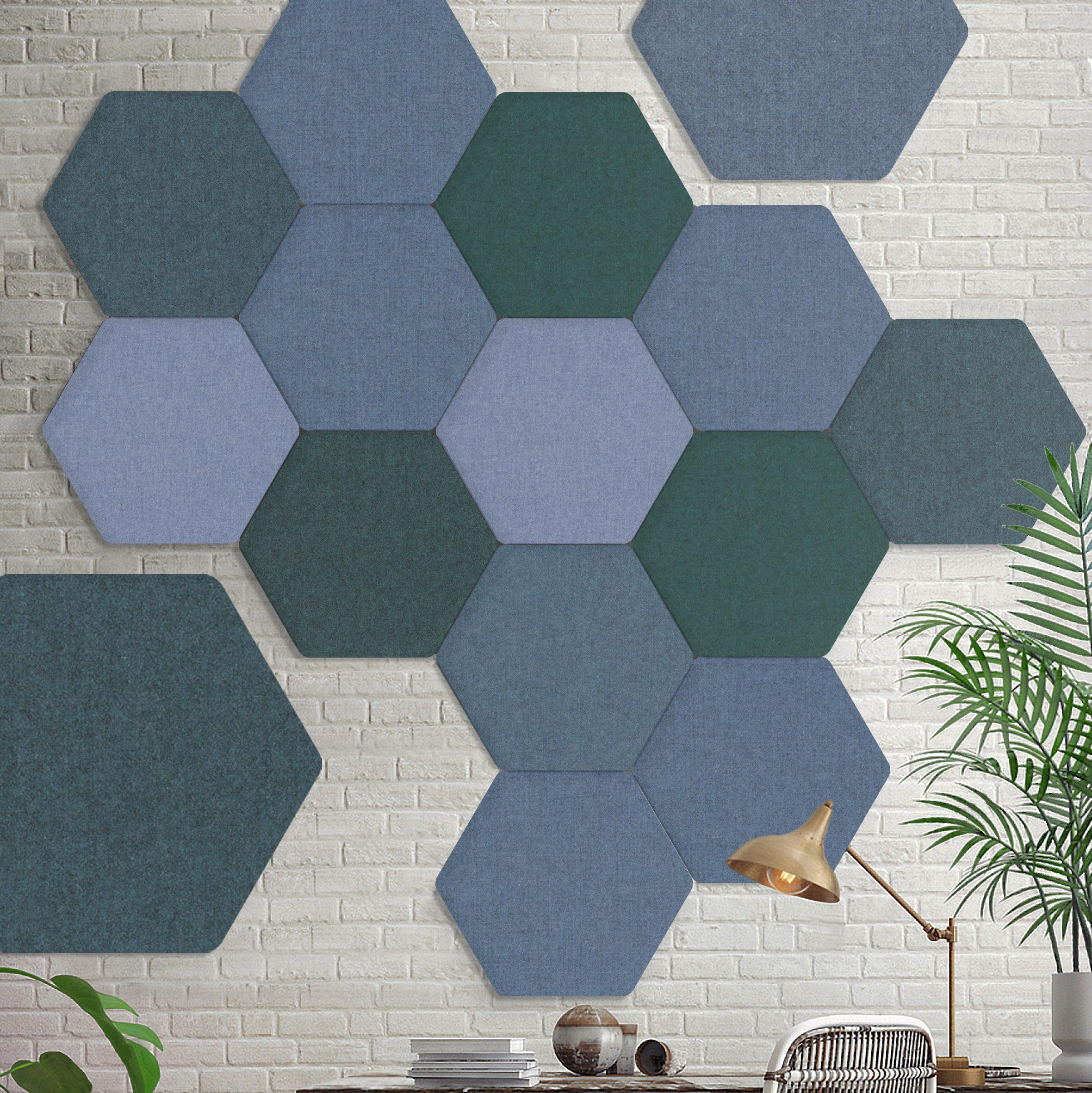 Tailor Made meerder hexagons bevestigd aan de wand