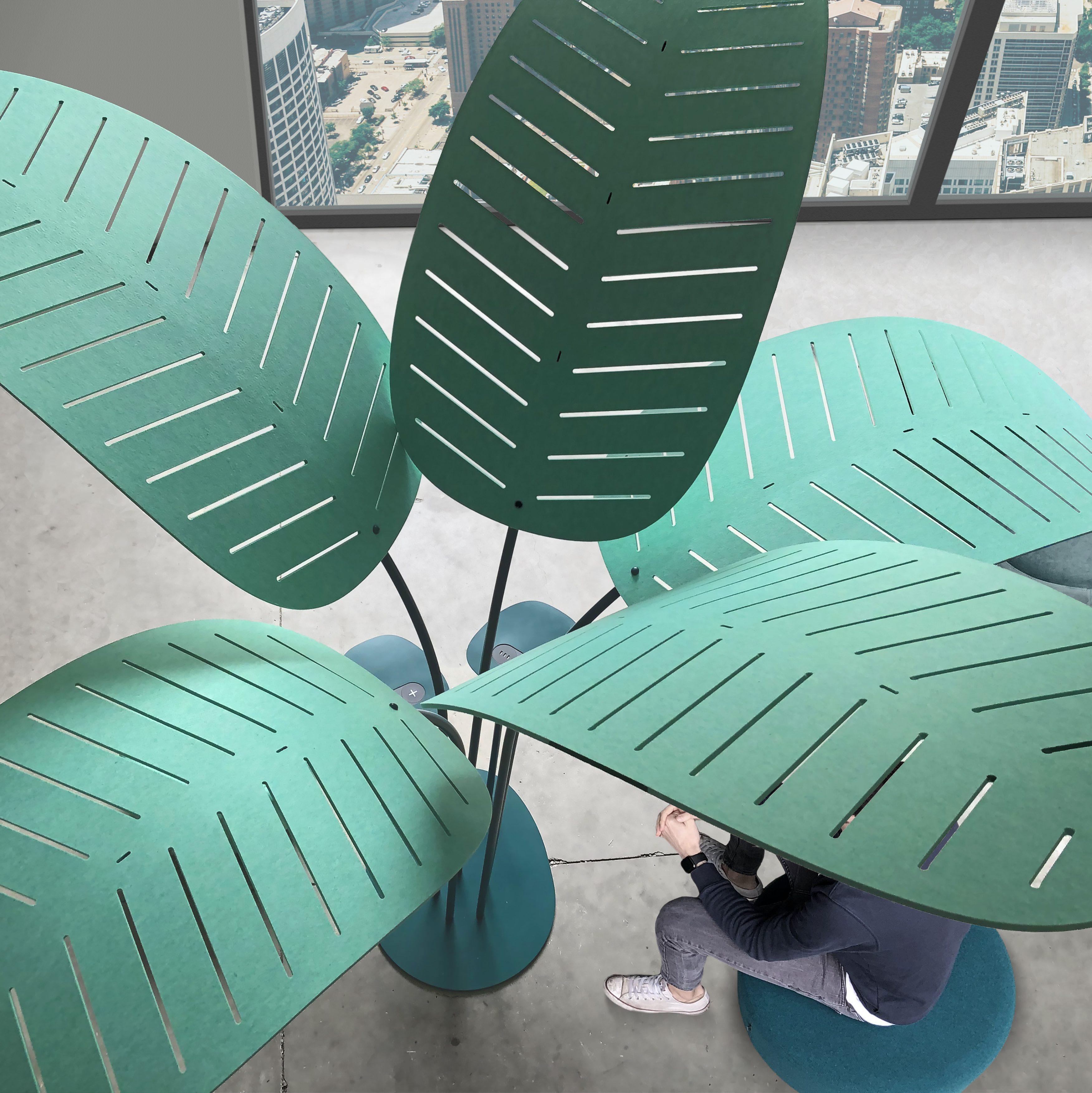 Oasis bovenaanzicht groene bladeren