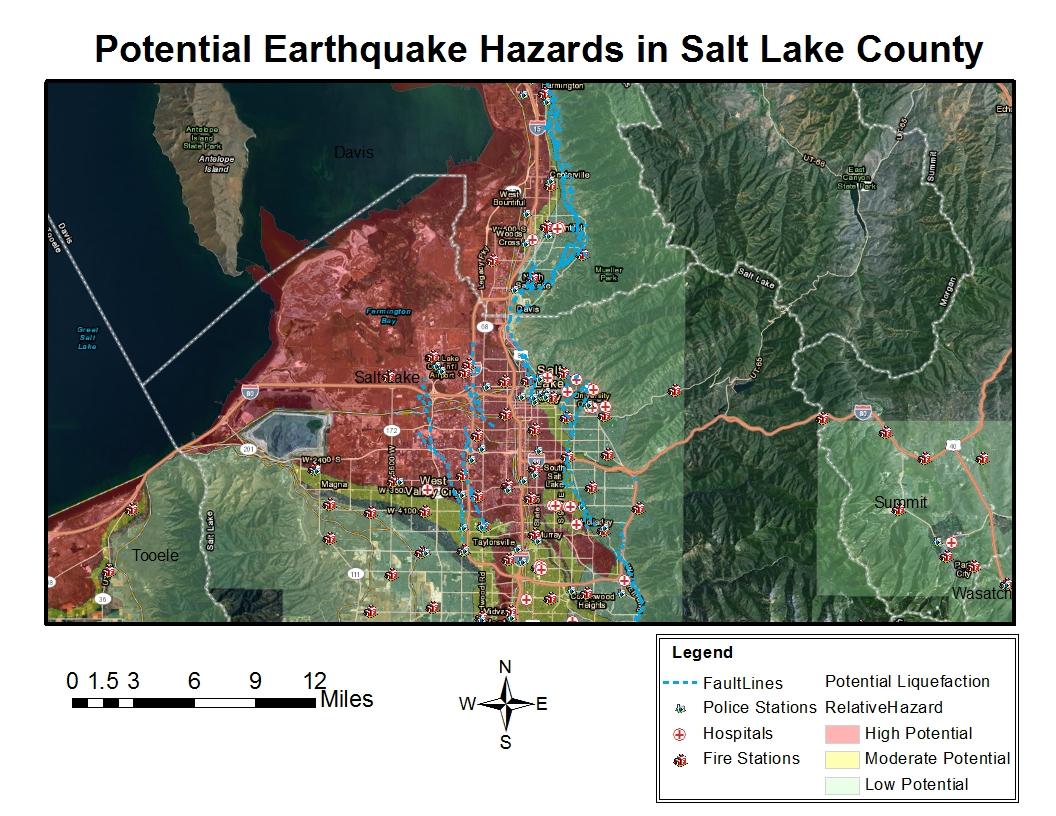Earthquake Hazard along the Wasatch Front  slam6921