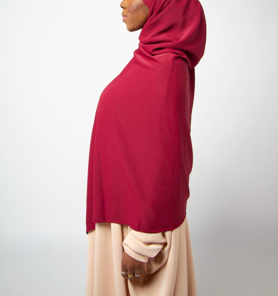 Maxi Hijab SlamLady Collection Basique Rouge Bordeaux