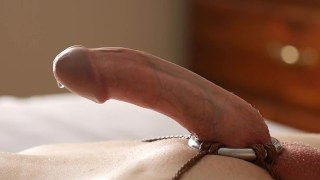 Shaft Ring Harness 2 – Commentary of a shaft ring and a dry orgasm