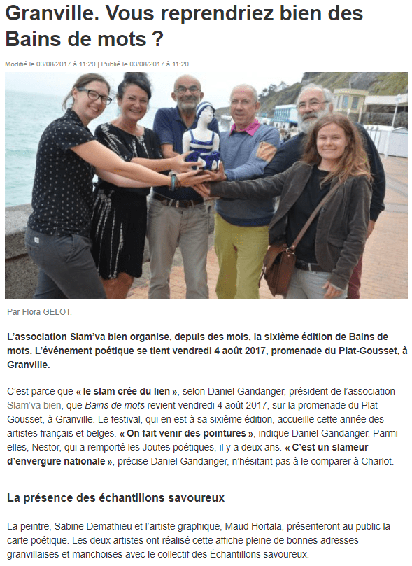 Ouest-France 03/08/2017