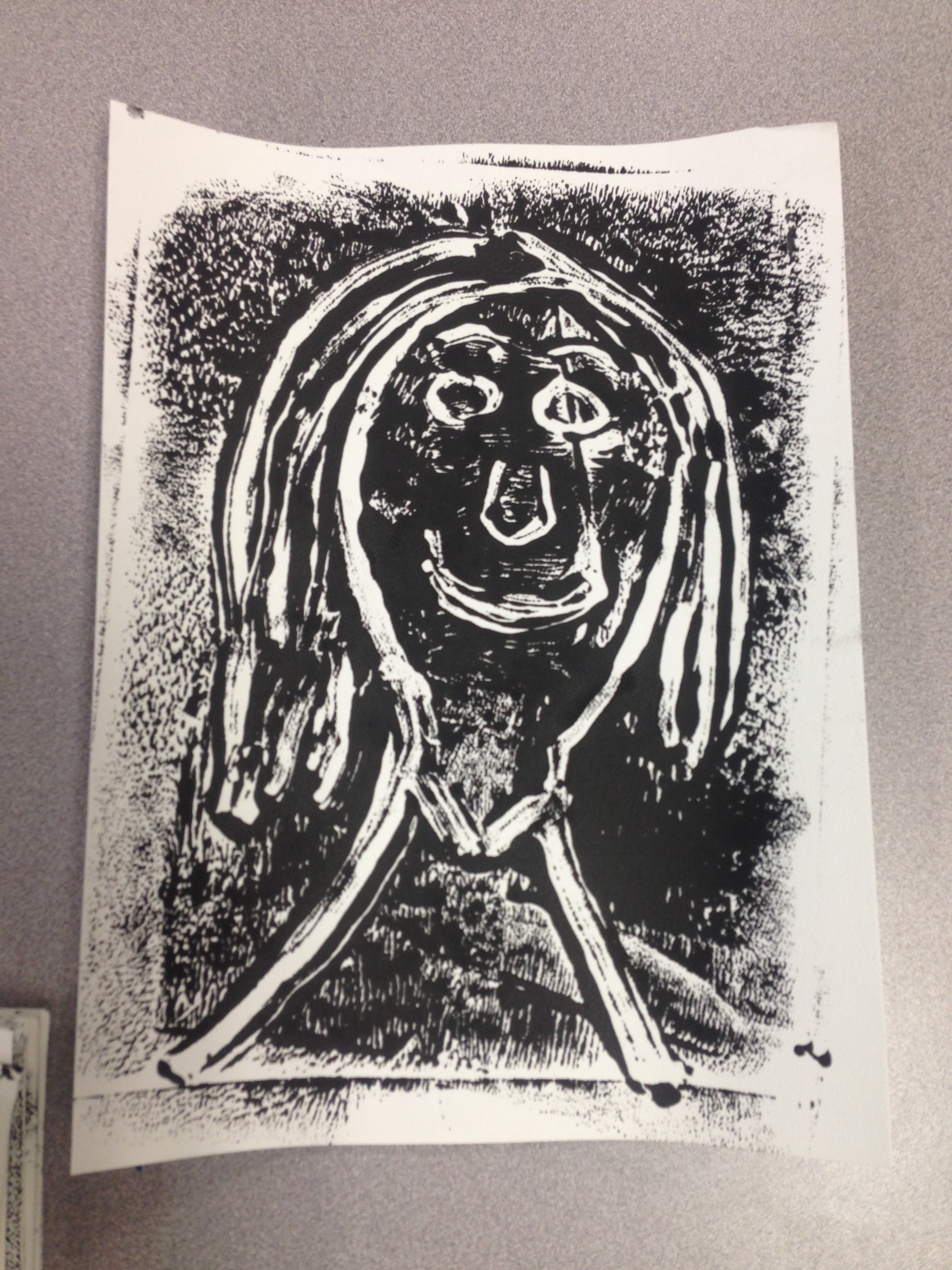 Monoprint Self Portraits