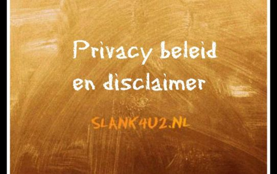 privacy beleid-en-disclaimer-slank4u2