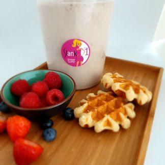 Wafels (mix voor +/- 17 porties) koolhydraatarm chocolade  stap 1