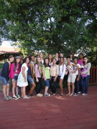 All the girls who were apart of the Mission Trip.