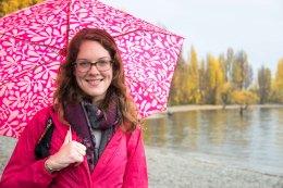 My friend Ruth - pretty in pink
