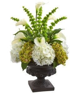 Nearly Natural 1685 3' Hydrangea Mixed Floral Artificial Arrangement in Urn