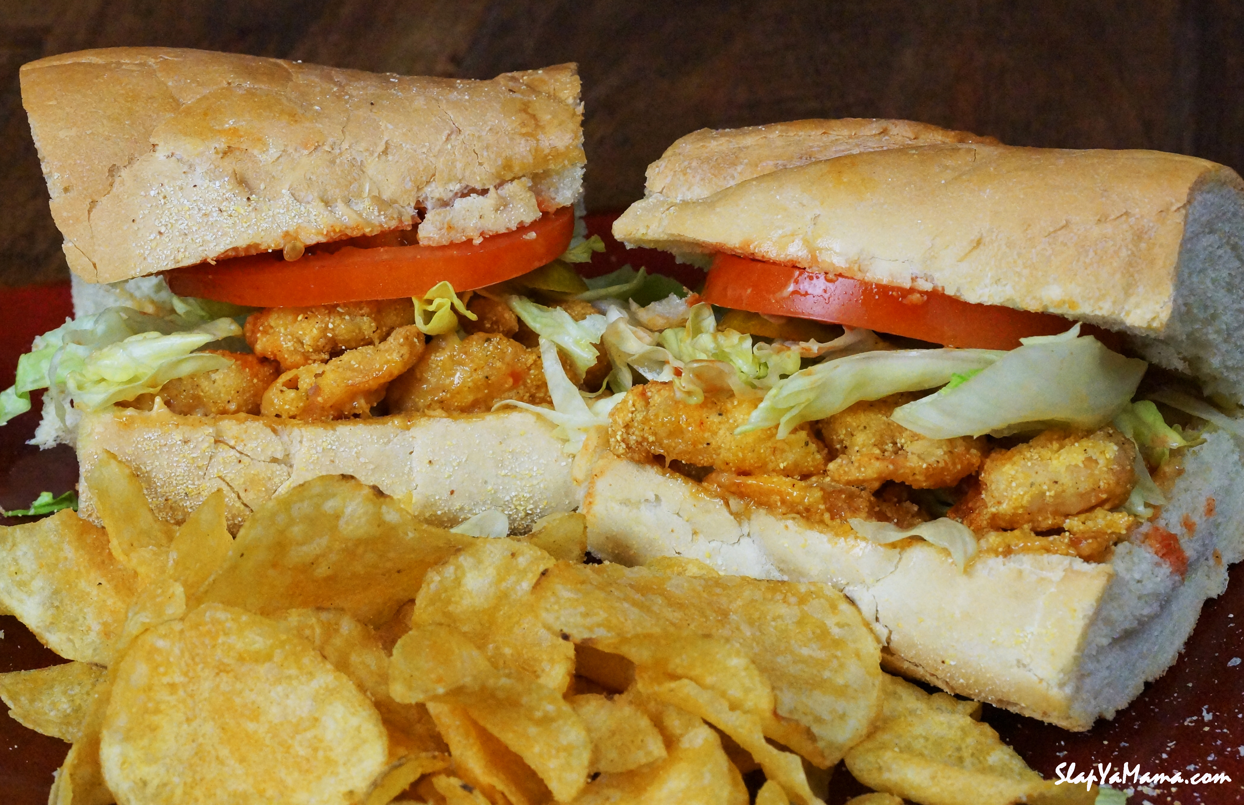 Fried Shrimp PoBoy  Slap Ya Mama