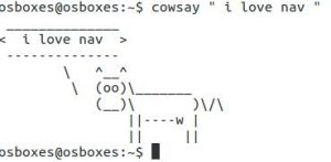 Linux Command cowsay