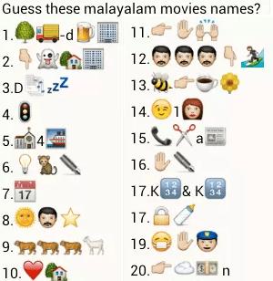 guess malayalam movie names