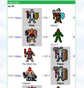 Full combat history