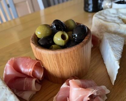 solid oak olive pot