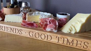 solid oak serving board or table runner designed for serving savoury or sweet dishes