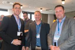 Andrew Smart (Slator), John Harris (Welocalize), John Moran (Transpiral) at SlatorCon London 2017