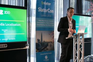 Zoo Digital CEO Stuart Green at SlatorCon London 2018