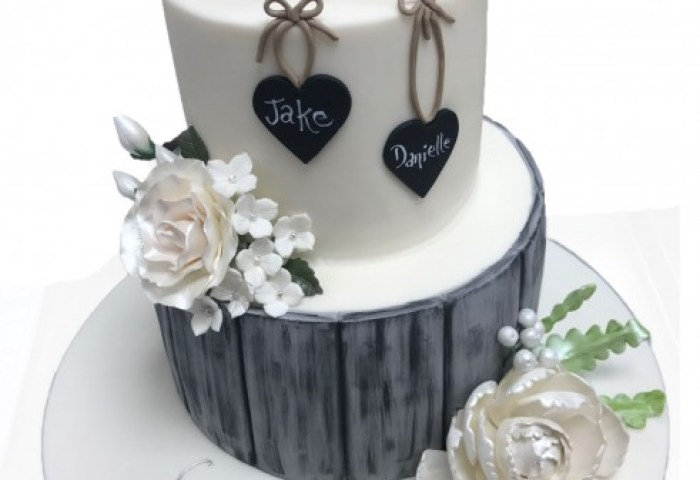 Doves Ring Engagement Cake