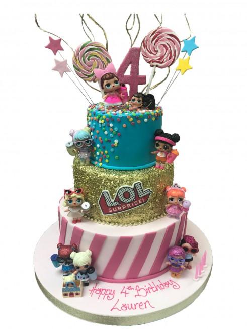 Lol Dolls Tiered Cake