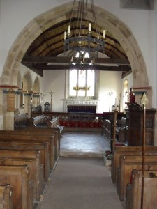 Interior of Mottistone Church