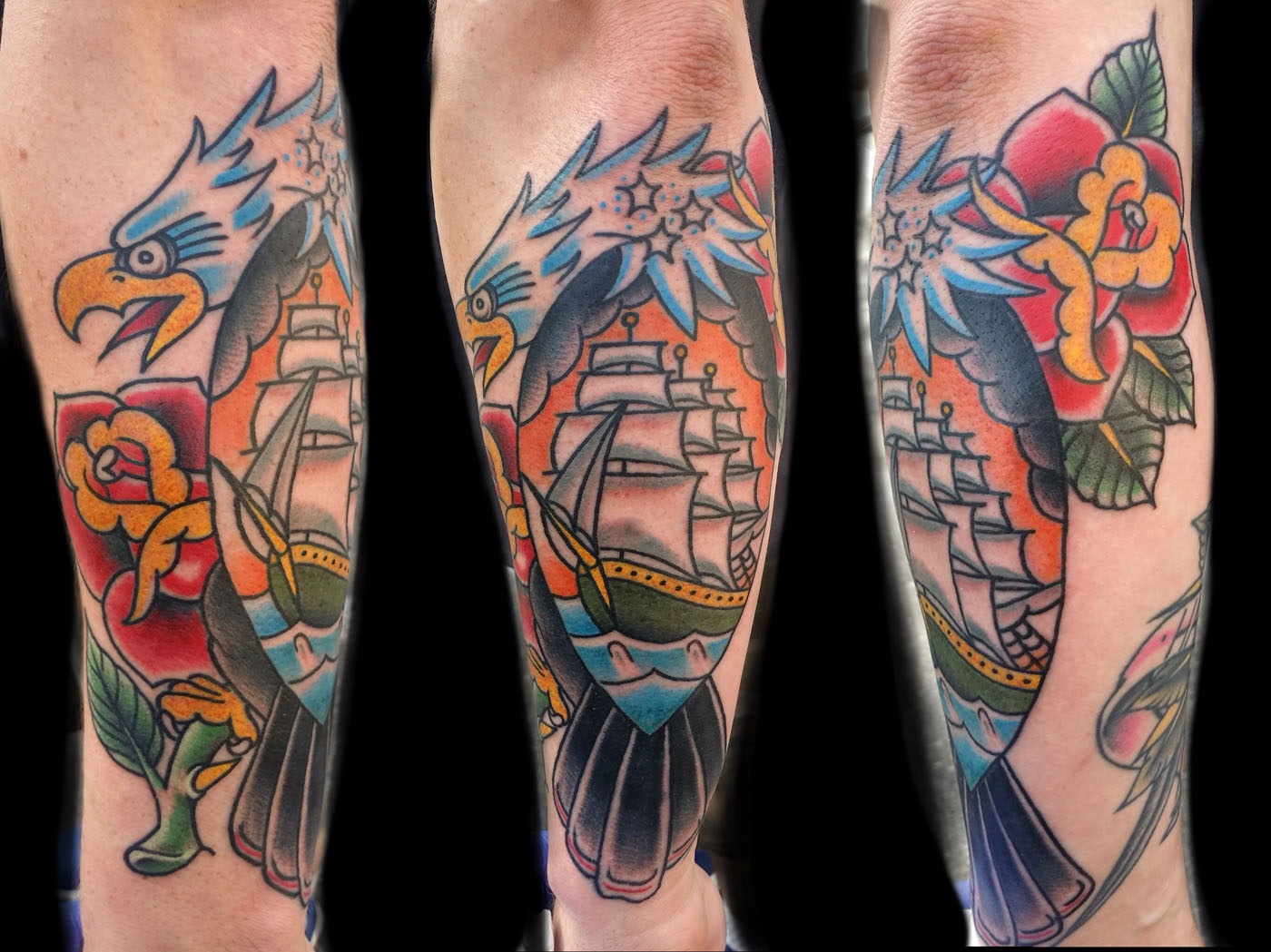 Traditional Americana Tattoo Sleeve