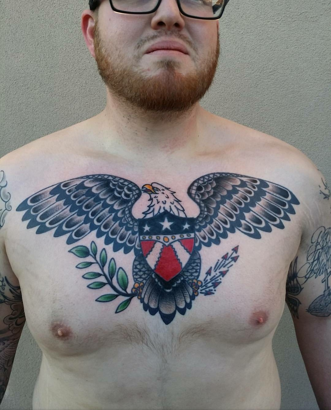 Traditional Eagle Chest Tattoo : traditional, eagle, chest, tattoo, Eagle, Chest, Tattoos, Elegant, Tattoo