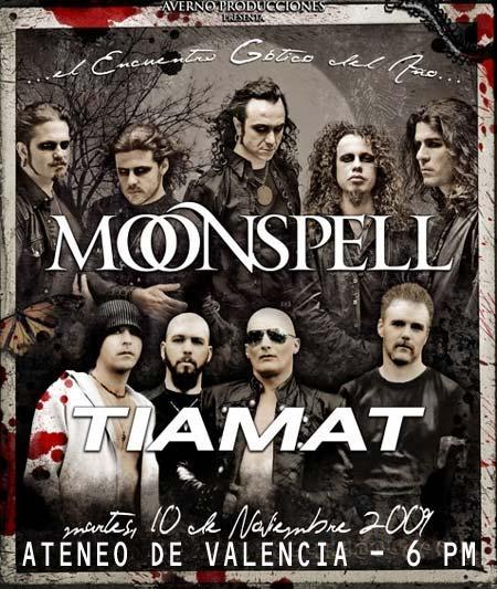 Hoy: Moonspell + Tiamat en Valencia, cambio de locación… - De todo hay en la viña del señor...