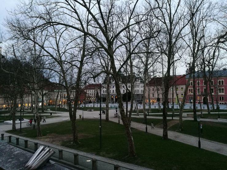 Любляна. Конгрессная площадь.