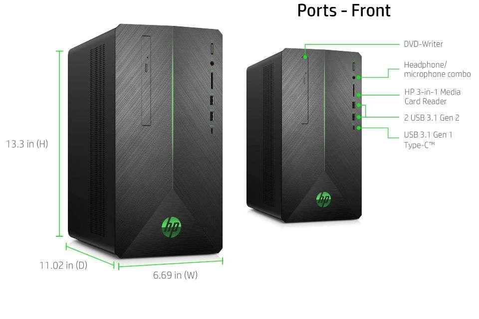 HP Pavilion Gaming Desktop Core i5-9400F
