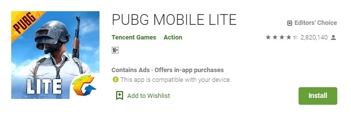 Download Pubg Lite Apk From Android 2020